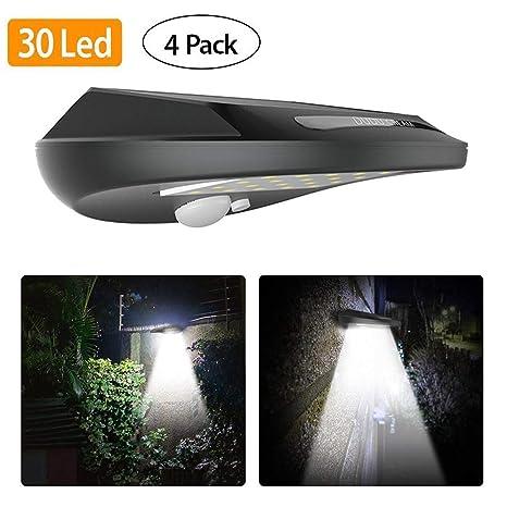 Luces solares con sensor de movimiento, 30 LED Everbright Luz de seguridad solar con sensor