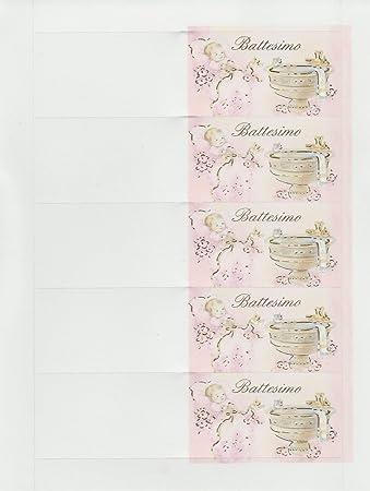 75 Karten Für Taufe Mädchen Taufbecken Bonboniere Basteln