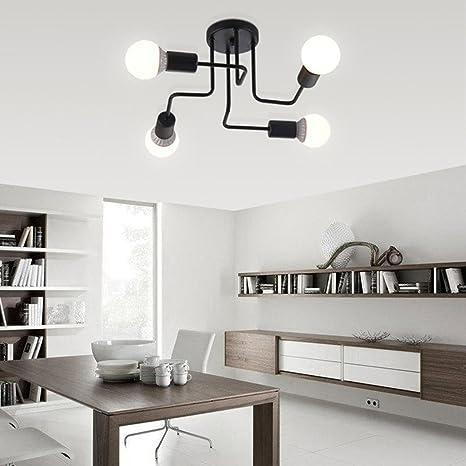 Luces de techo lámparas vintage para sala de estar ...
