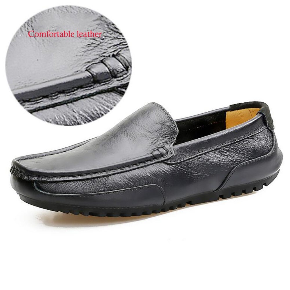 Paar Schuhe Unisex Leder Frühling Frühling Frühling Sommer Erbsen Schuhe Herbst Comfort Loafers & Slip-Ons Wanderschuhe Split Joint für Casual (Farbe   Blau, Größe   40) e6397d