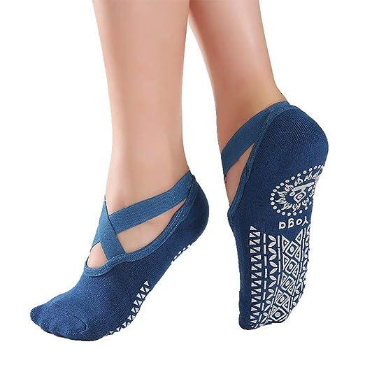Calcetines de yoga para mujer Resbalón Calcetines de yoga ...