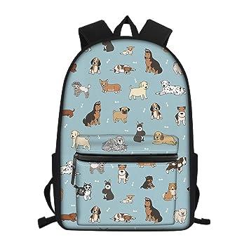 7935e062e81a Amazon.com | Showudesigns Cute Dog School Bag Pack for Girls Boys ...