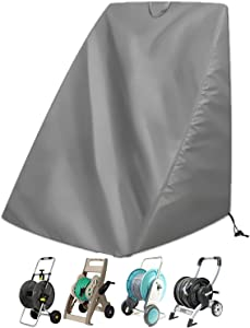 "Aaaspark Veranda Patio Free Standing Portable Garden Hose Reel Cover,Protect Your Hose Reel and prolong its Life(25.9"" x24.8"" x 34.6"")"