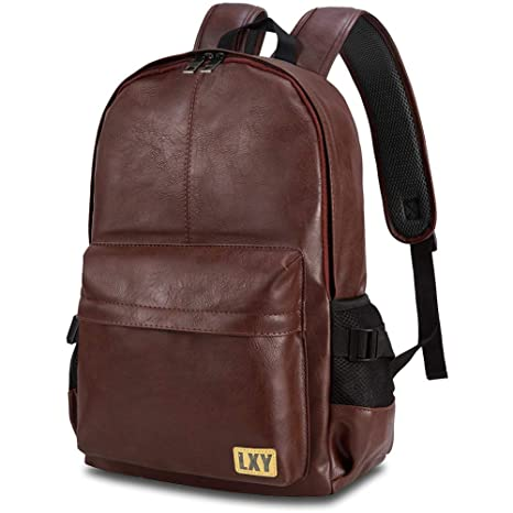 17e4aad057 Image Unavailable. Image not available for. Color  Vintage Backpack Leather  Laptop Bookbag for Women Men