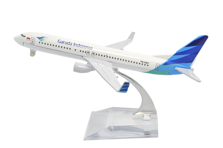 TANG DYNASTY(TM) 1:400 16cm Boeing B737 Garuda Indonesia Metal Airplane Model Plane Toy Plane Model Tang Dynasty International .