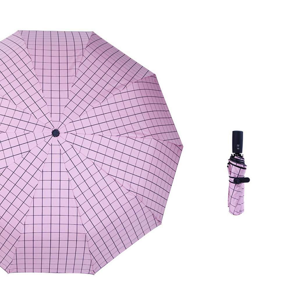 (ヴィタトロイ) Viatroy 旅行用傘 グリッドパターン アウトドア 太陽と雨 コンパクト 折りたたみ ポータブル傘 防風  ピンク B07GQ9B9FW