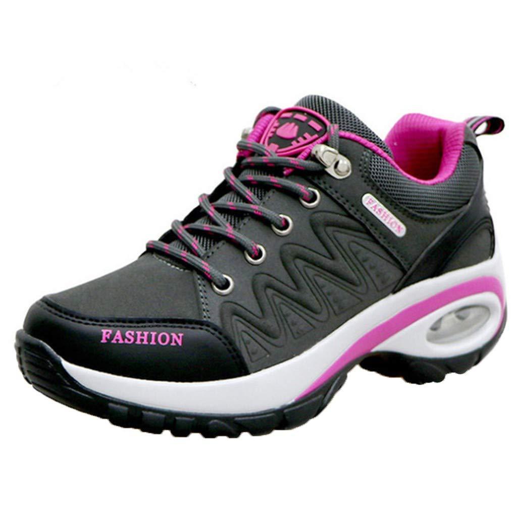 Air Cushion Running Shoes Womens Lightweight Fashion Running Sport Sneakers Casual Walking Athletic Non Slip Dark Gray