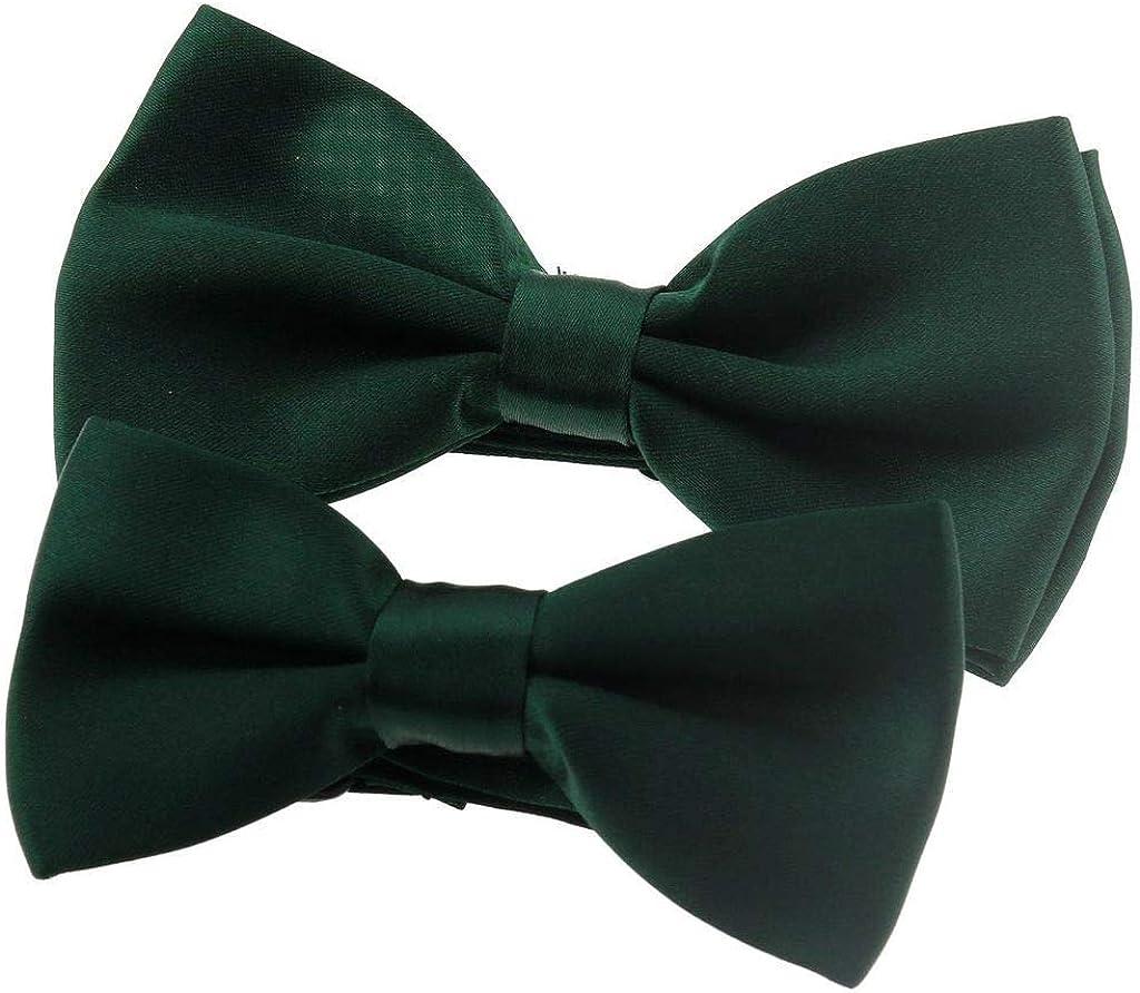 Ukerdo Familia Adecuado Pajarita Oscuro Verde Corbata de Lazo Para ...