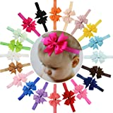 20Pcs Baby Girls Headbands Grosgrain Ribbon Boutique Hair Bow for Teens Toddlers