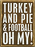 PBK Fall Decor - Thanksgiving Turkey Football Pie Oh My #23546