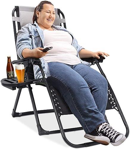EZCHEER Padded Zero Gravity Chair