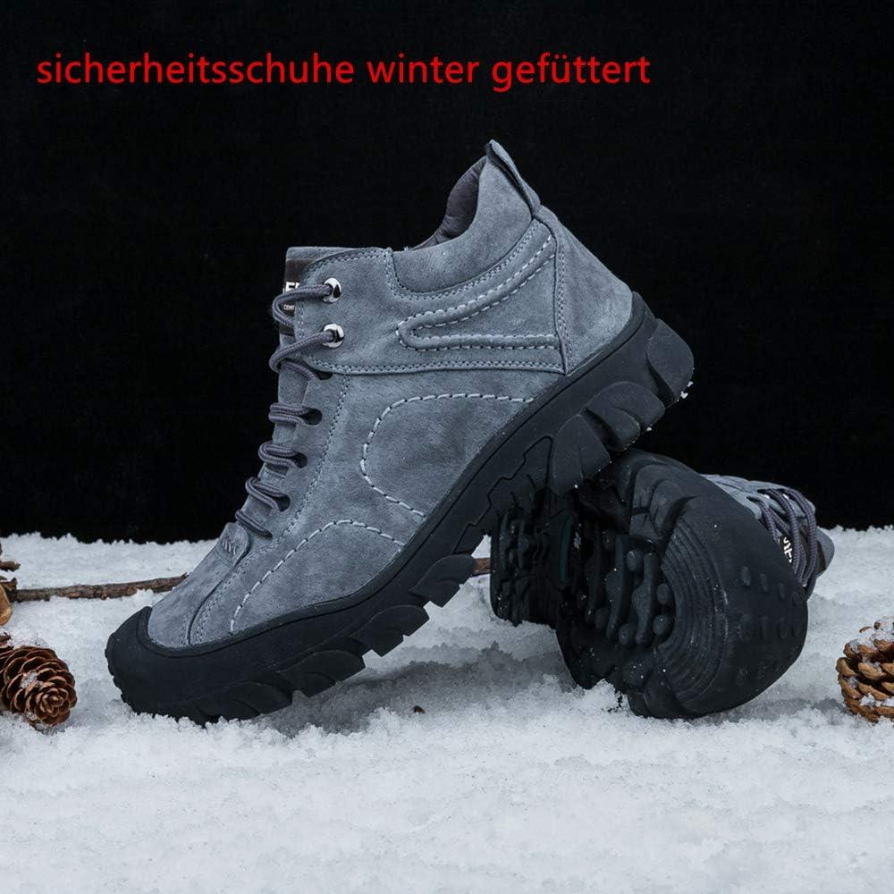 BESKEE Sicherheitsschuhe Herren Damen S3 Wasserdicht Arbeitsschuhe Winter Sicherheitsstiefel mit Stahlkappe & Warm Gefütterte