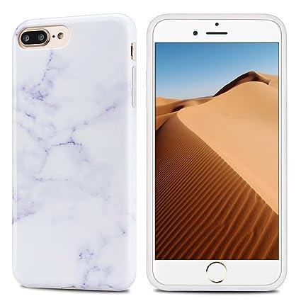 faac829f8e2 Mosoris Funda iPhone 7 Plus / 8 Plus, Marble Mármol Suave TPU Silicone  Carcasa Goma