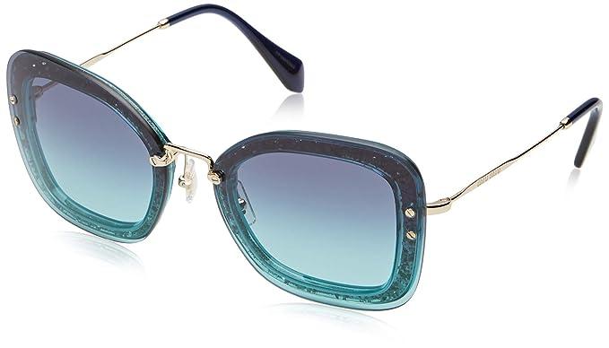 bb6f2fc004a8 Amazon.com: Sunglasses Miu MU 2 TS JZG5R2 TRANSP EMERALD GREEN ...