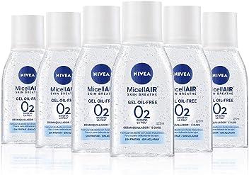 NIVEA MicellAIR Gel Micelar Desmaquillador de Ojos Oil-Free, con ácido hialurónico, limpieza
