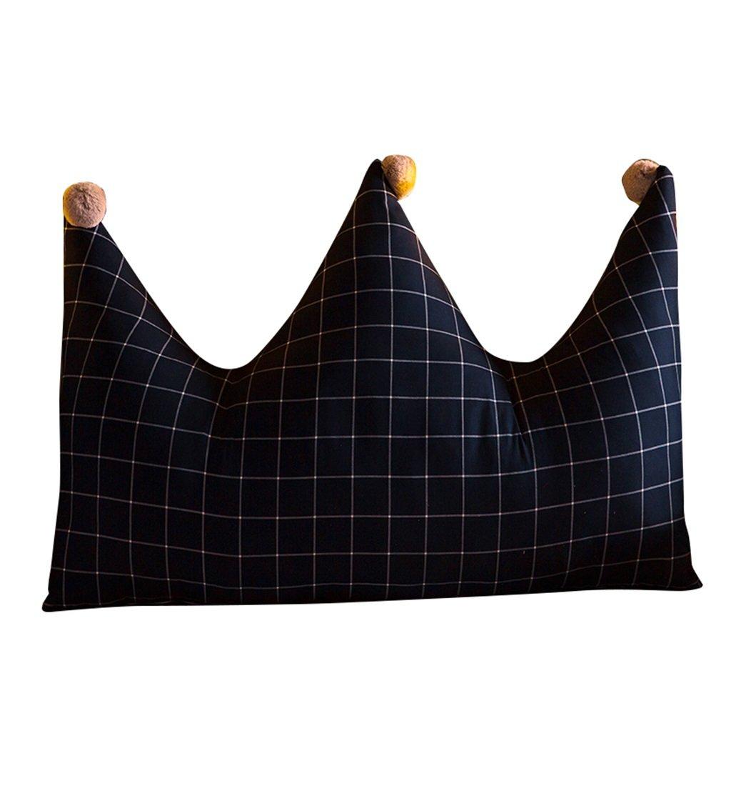 抱き枕 ラージウェッジトライアングルピローバックサポートクッションヘッドボードは、読書用の枕としてパッドベッド(紺)の腰部クッションネックピローの背もたれ (サイズ さいず : 180×70cm) 180×70cm  B07FMFT132