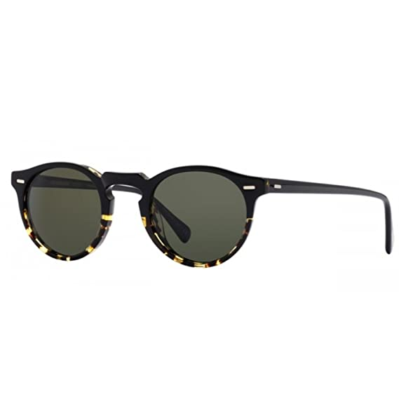03cc875c397 Oliver Peoples OV5217S 1178P1 Sun Black Tortoise Gregory Peck Sun Round  Sungl  Amazon.co.uk  Clothing