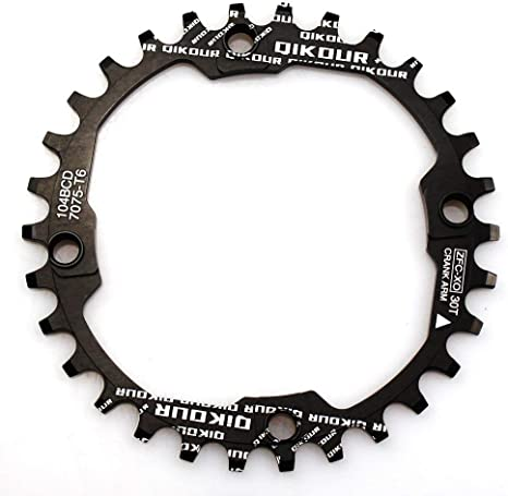 Keenso Bike Chain Ring 32//34//36//38T BCD Aluminum Alloy Mountain Bike Steel Single Crank Chain Ring Round Gear Bicycle Chain Ring for Mountain Bike Repairing