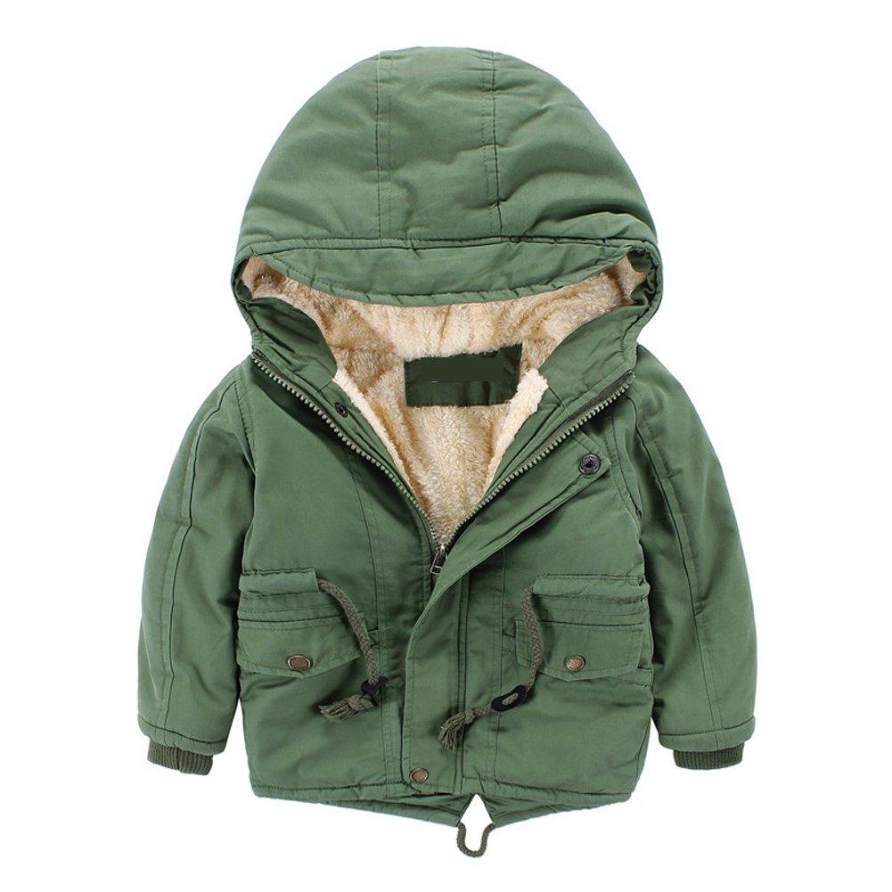 Cystyle Winterjacke f/ür Kinder Jungen M/ädchen Mantel Trenchcoat Outerwear mit Kapuzen