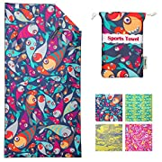 4Monster Microfiber Beach Towel Quick Dry,Super Absorbent Lightweight Towel for Swimmers, Sand Free Towel, Beach Towels…