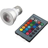 5W E27 Multi Color Change RGB LED Light Bulb Lamp with Remote Control Ultra Bright Environment-Friendly No UV IR Radiation - Silver