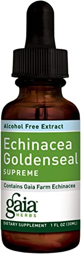 Gaia Herbs, Echinacea Goldenseal Supreme Alcohol Free, 1 Fl Oz