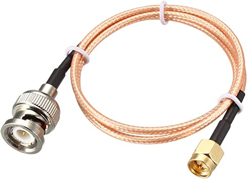 uxcell RG316 Coaxial Cable with BNC Male to SMA Male Connectors 50 Ohm 2 Feet