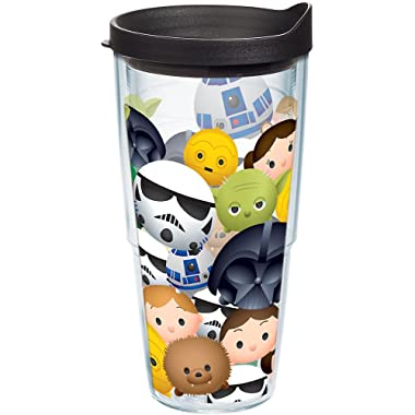 Tervis 1241277 Star Wars Tsum Insulated Tumbler with Wrap and Black Lid, 24 oz, Clear