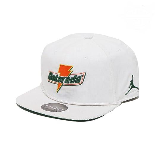 7d13ccfee96 NIKE Air Jordan Pro Like Mike Baseball Cap Adult Adjustable  White Orange Green (