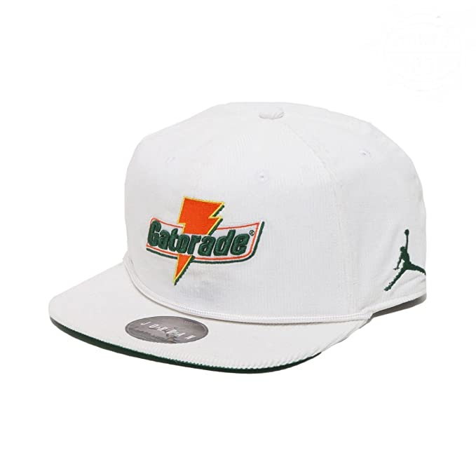 04071b5d56dd NIKE Air Jordan Pro Like Mike Baseball Cap Adult Adjustable White Orange Green  (