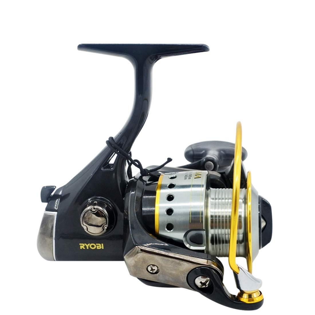 CAFUTY 紡績釣りリール右ダブルハンドルシステム塩水淡水釣りダブルドラグブレーキシステム (サイズ : 6000) 6000  B07PCLPZ4V