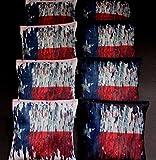 FLAG OF TEXAS HEART OF HONOR ACA Regulation Cornhole Bean Bags RED ROYAL B256