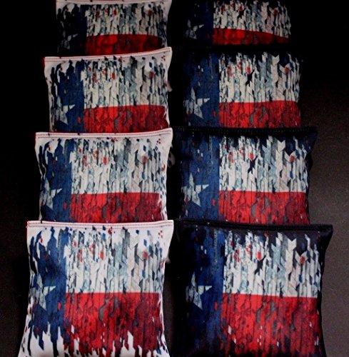FLAG OF TEXAS HEART OF HONOR ACA Regulation Cornhole Bean Bags RED ROYAL B256 by BackYardGamesUSA