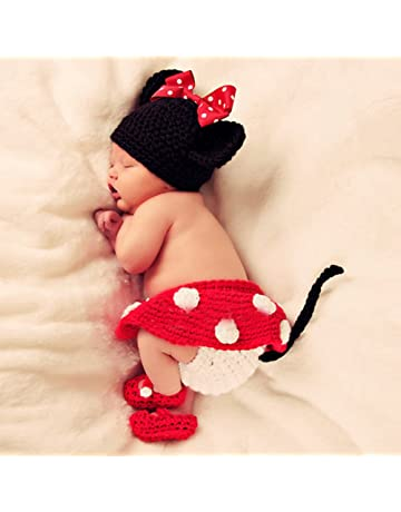 Cute Baby Infant Mouse Costume Photo Photography Prop 0-6 months Newborn Red 263c92eb209c
