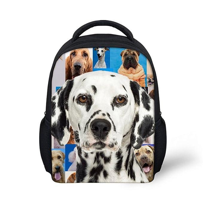 5c0d3c6e52c HUGS IDEA Black and White Kids Mini Schoolbag Dalmatian Pet Dog Puppy  Printed Backpack