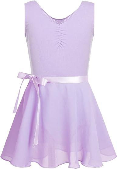 iixpin Maillot de Danza Ballet para Niñas Body Clásico Elástico ...