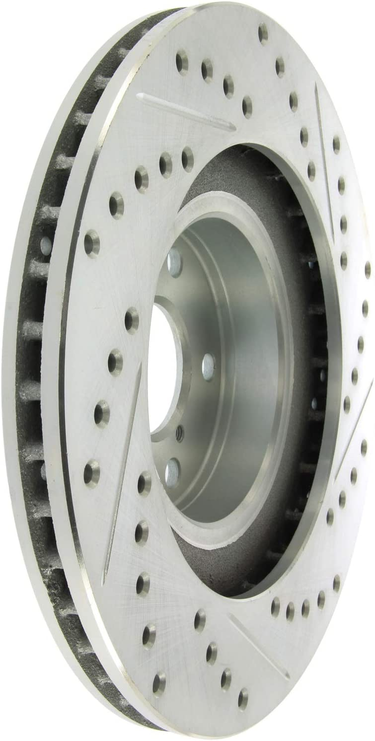 Front+Rear Drilled /& Slotted Black Platinum Series Rotors /& Stoptech Brake Pads