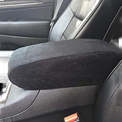 Sporthfish Black Center Console Armrest Cover Soft Pad Protector Cover Fits Jeep Grand Cherokee 2011-2020: Automotive