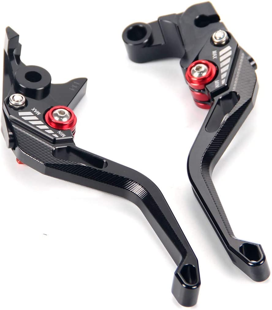 Auzkong Folding Extendable Adjustable CNC Brake Clutch Levers for Honda CBF125//CB125F 2009-2014 Black
