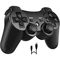 PS3 Controller, PomisGam Wireless Gamepad Compatible for Playstation 3 Bluetooth Double Shock Joystick with SIX AXIS…