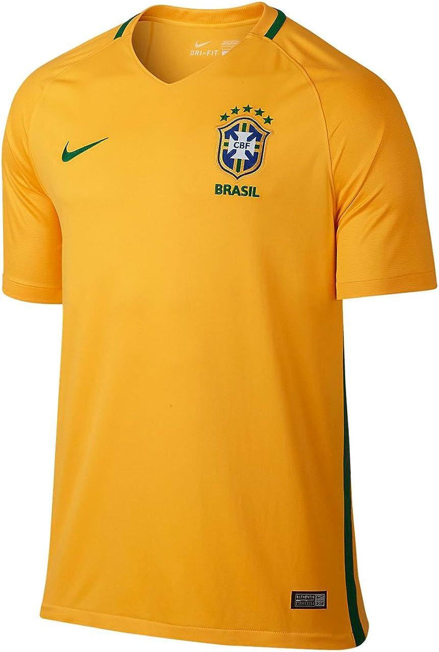 Nike Brazil Home Soccer Stadium Jersey
