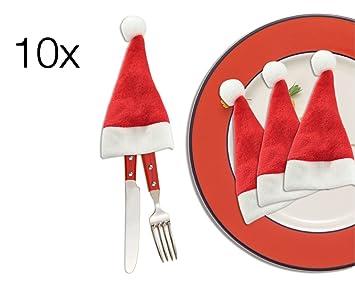 TK Grupo Timo Klingler 10 x – Soporte para Cubiertos Navidad para Mesa Belén Cubiertos Mesa
