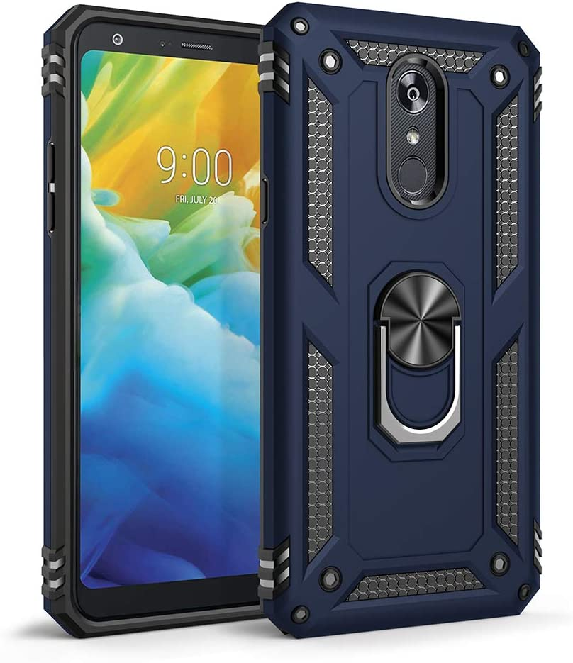 Sfmn Military Case for LG Stylo 5 Case Ultralight, Magnetic, Ring, Military Anti-Fall for LG Stylo 5 Phone Cover LG Stylo 5 Plus Case (Blue)