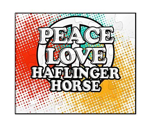 (Makoroni - Peace Love Haflinger Horse - Jigsaw Puzzle, 30 pcs.)
