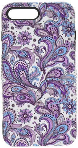 Asmyna Cell Phone Case for Apple iPhone 7 Plus - Purple European Flowers/Black
