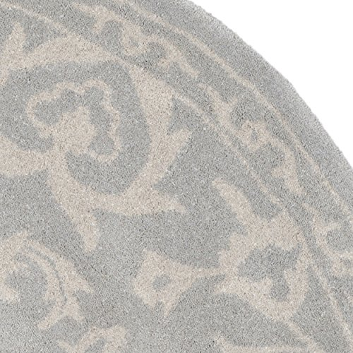 Image of Safavieh Bella Collection BEL446A Handmade Grey and Silver Premium Wool Round Area Rug (7' Diameter)