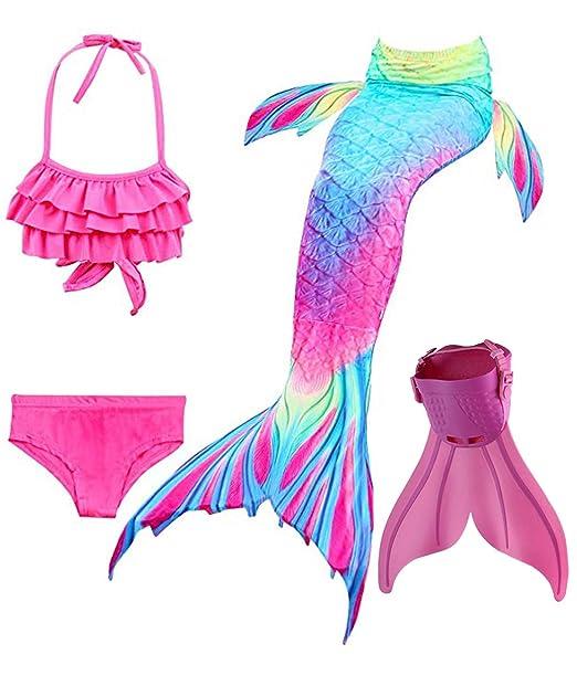 353bed0b6908 SPEEDEVE Coda di Sirena per Bambina con Bikini,Dh02+wjf48,140: Amazon.it:  Abbigliamento