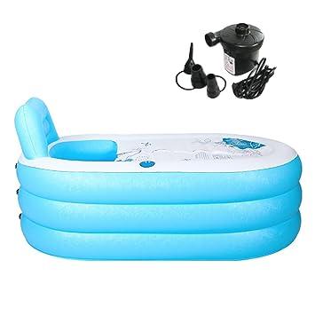 Tinksky Aufblasbare Badewanne Erwachsenen Portable Faltbare PVC Spawanne  Mit Luftpumpe