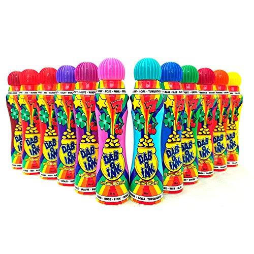 Cheap Dab-O-Ink Bingo Dauber - 3 oz - 12 Pack - Assorted Colors bingo daubers