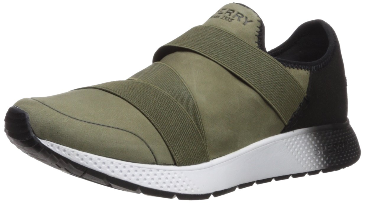 Sperry Top-Sider Women's Seven Seas Trysail Sneaker B0751QLMR5 5.5 B(M) US|Olive/Black